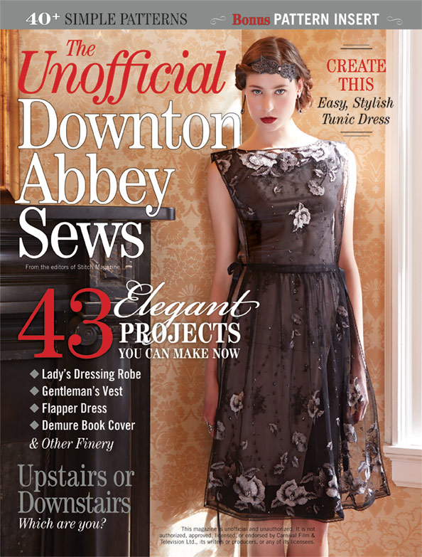The Unofficial Downton Abbey Sews - magazine cover art