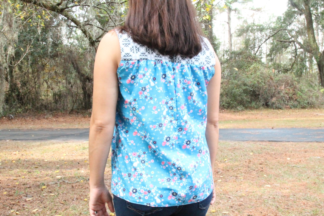 maple blouse sleeveless back view
