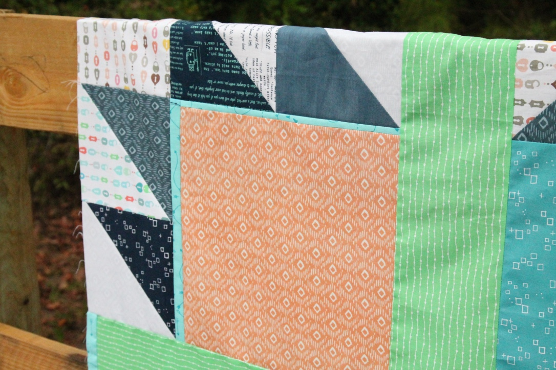 boy bear paw quilt detail
