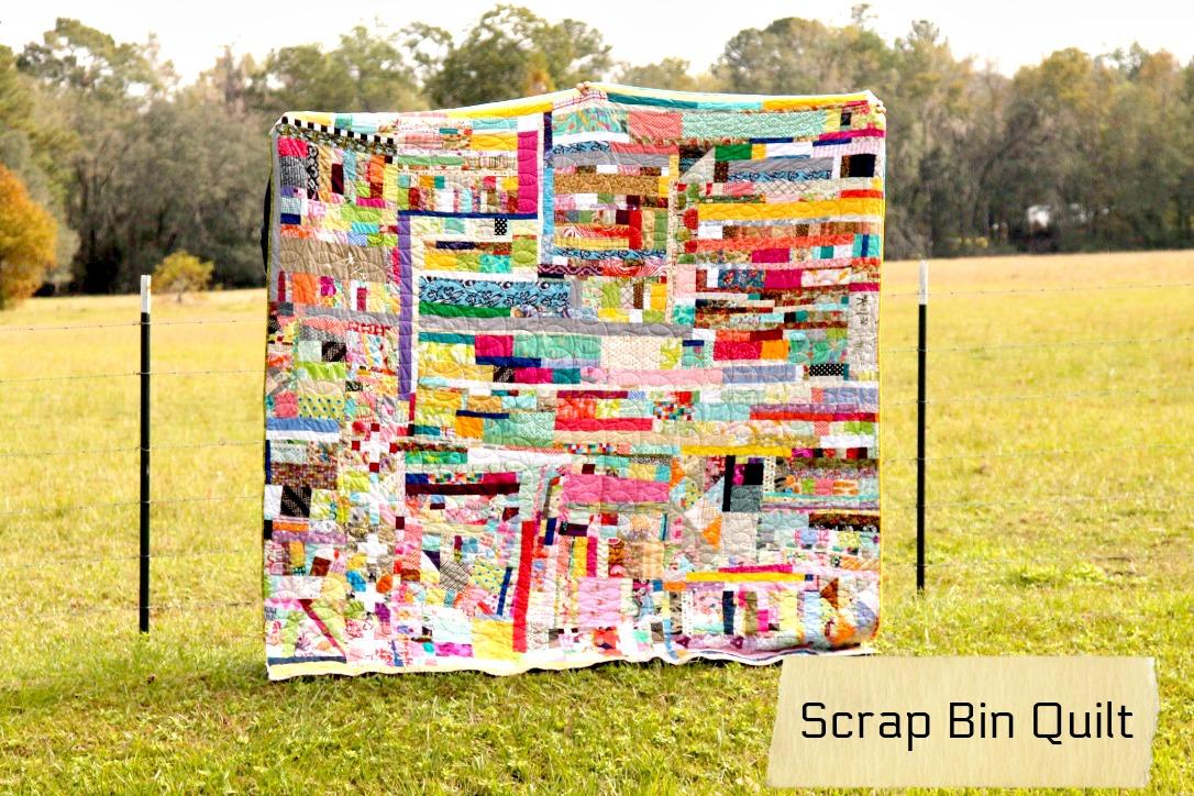scrappy bin quilt